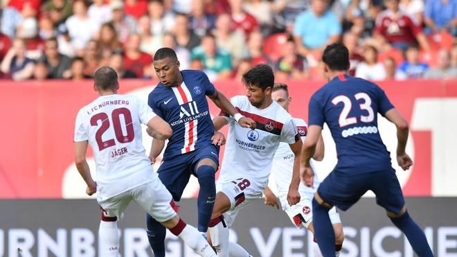 Auch PSG-Superstar Kylian Mbappe fand gegen die Nürnberger Abwehr kein Durchkommen