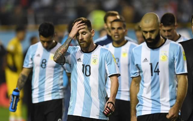 Lionel Messi und Argentinien droht das Horrorszenario, die WM 2018 zu verpassen