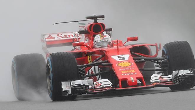 Sebastian Vettel konnte auf der nassen Strecke in Malaysia nicht überzeugen