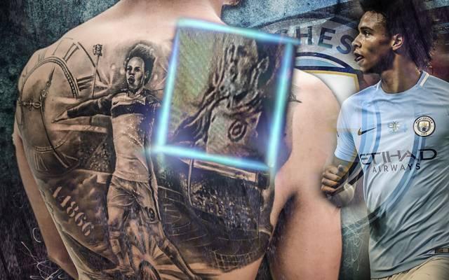 Leroy Sane entfernt das Logo von Manchester City aus seinem Tattoo