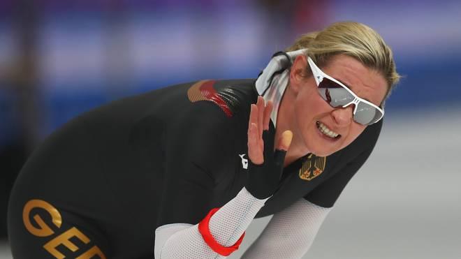Claudia Pechstein gewann in Inzell über 3000 Meter