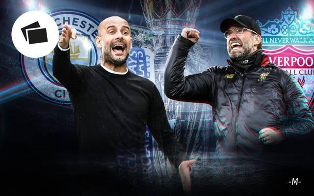 Pep Guardiola und Jürgen Klopp duellieren sich um den Titel im Community Shield