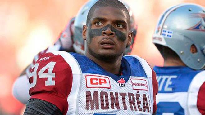 Michael Sam im Trikot der Montreal Alouettes