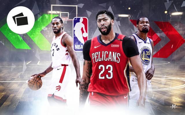 Der Transfermarkt der NBA mit Kawhi Leonard, Anthony Davis und Kevin Durant (v.l.)