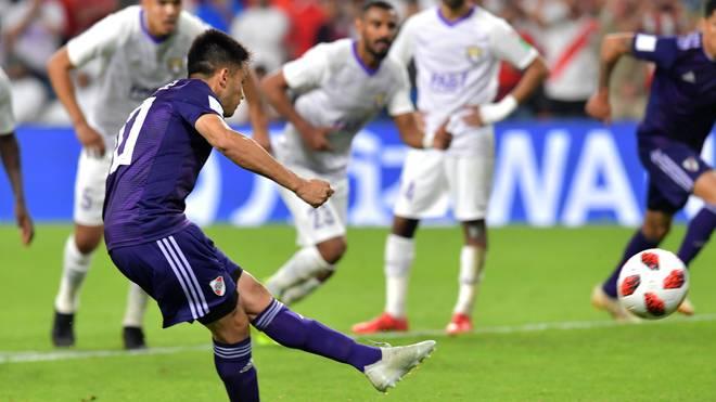 River Plates Gonzalo Martinez verschoss schon während der Partie vom Punkt