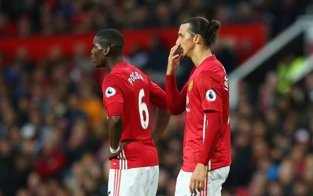 Paul Pogba (l.) und Zlatan Ibrahimovic (r.) stehen vor ihrem Comeback bei Manchester United