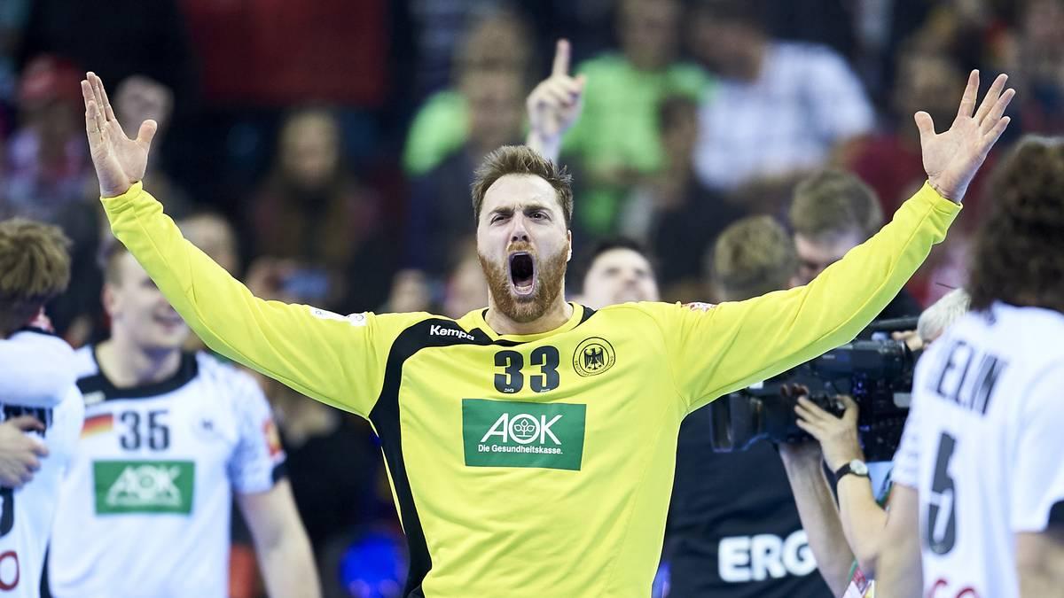 Torhüter Andreas Wolff feierte mit der deutschen Nationalmannschaft den EM-Titel