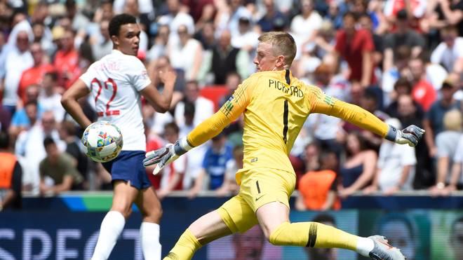 Englands Torwart Jordan Pickford war im Elfmeterschießen Matchwinner im Spiel um Platz 3