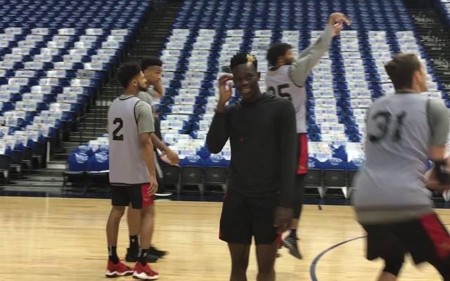 Dennis Schröder im Training der Atlanta Hawks