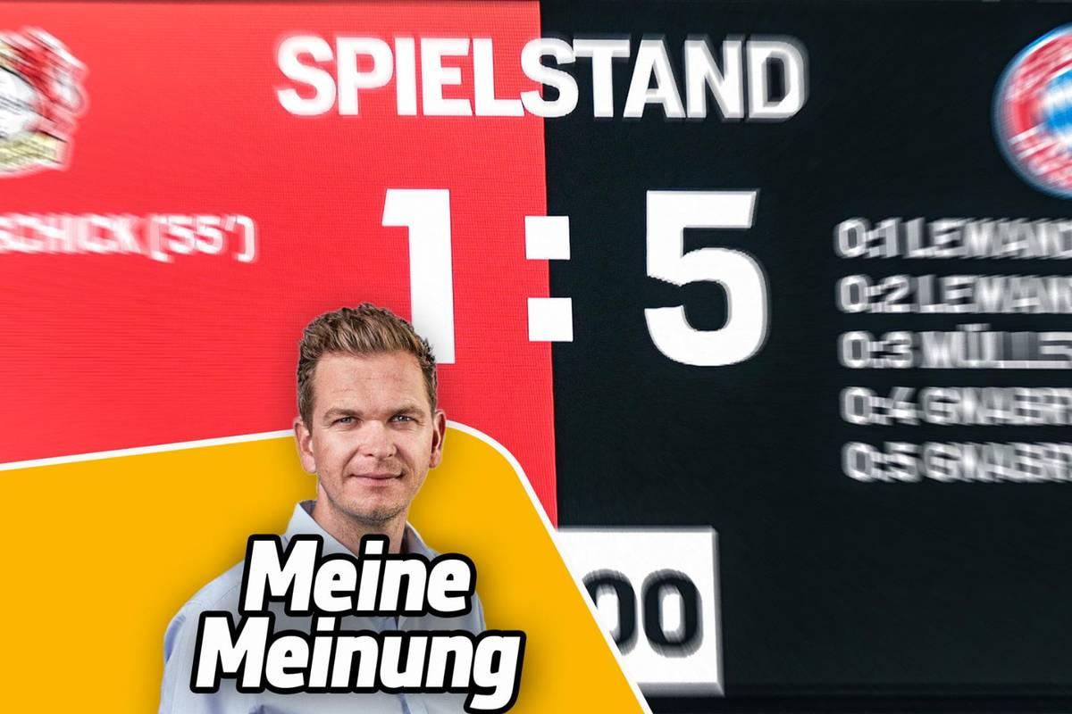 Der FC Bayern nimmt in Leverkusen erneut einen Herausforderer übel auseinander. Das muss ein Ende haben, findet SPORT1-Kolumnist Tobias Holtkamp.