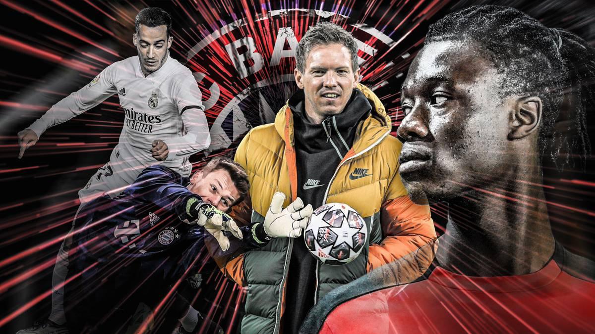 Mit Julian Nagelsmann steht beim FC Bayern ein großer Umbruch an - auch im Kader. Legenden wie Alaba und Boateng gehen, Transfers wie Camavinga und Vasquez werden heiß gehandelt. Unser Moderator Conan Furlong stellt euch den möglichen Nagelsmann-Kader vor.
