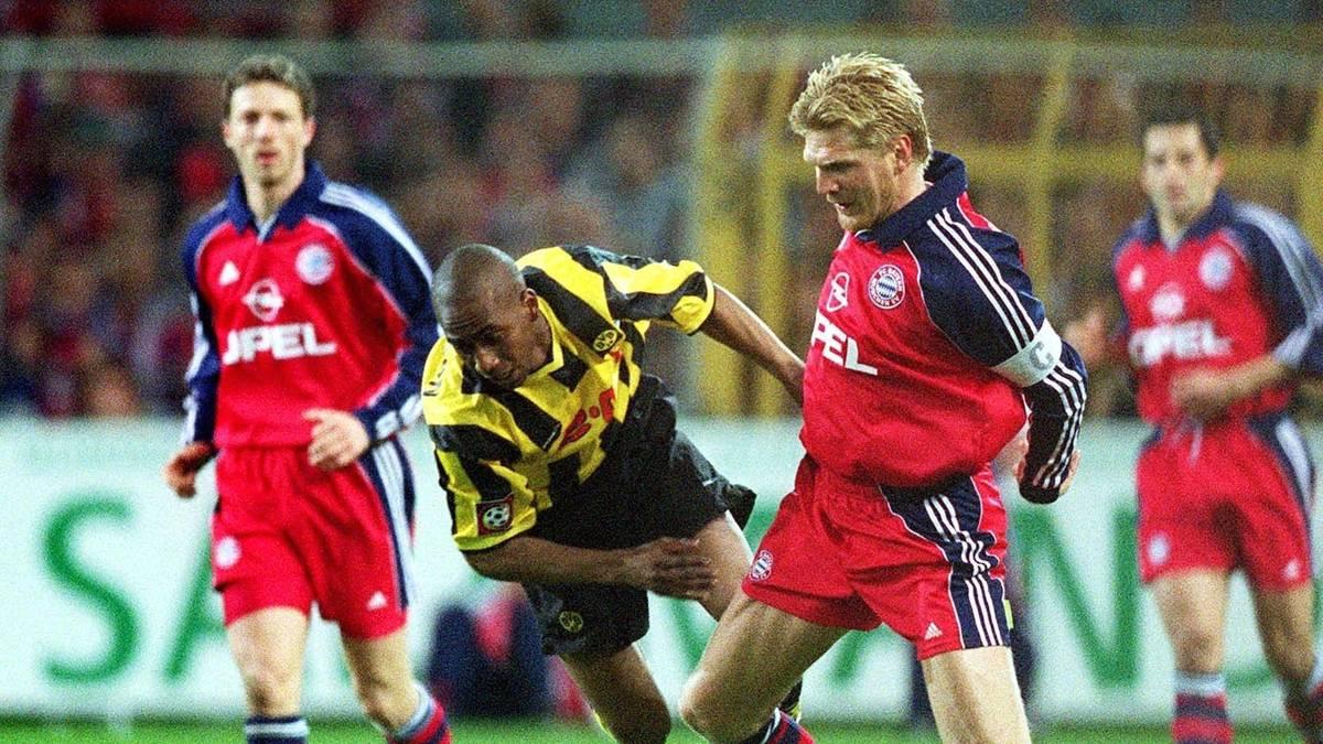Bayern München und Borussia Dortmund sorgen in der Spielzeit 2000/2001 für das farbenfrohste Spiel der Bundesliga-Geschichte