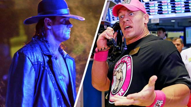 Der Undertaker (l.) soll bei den WWE Survivor Series 2017 auf John Cena treffen