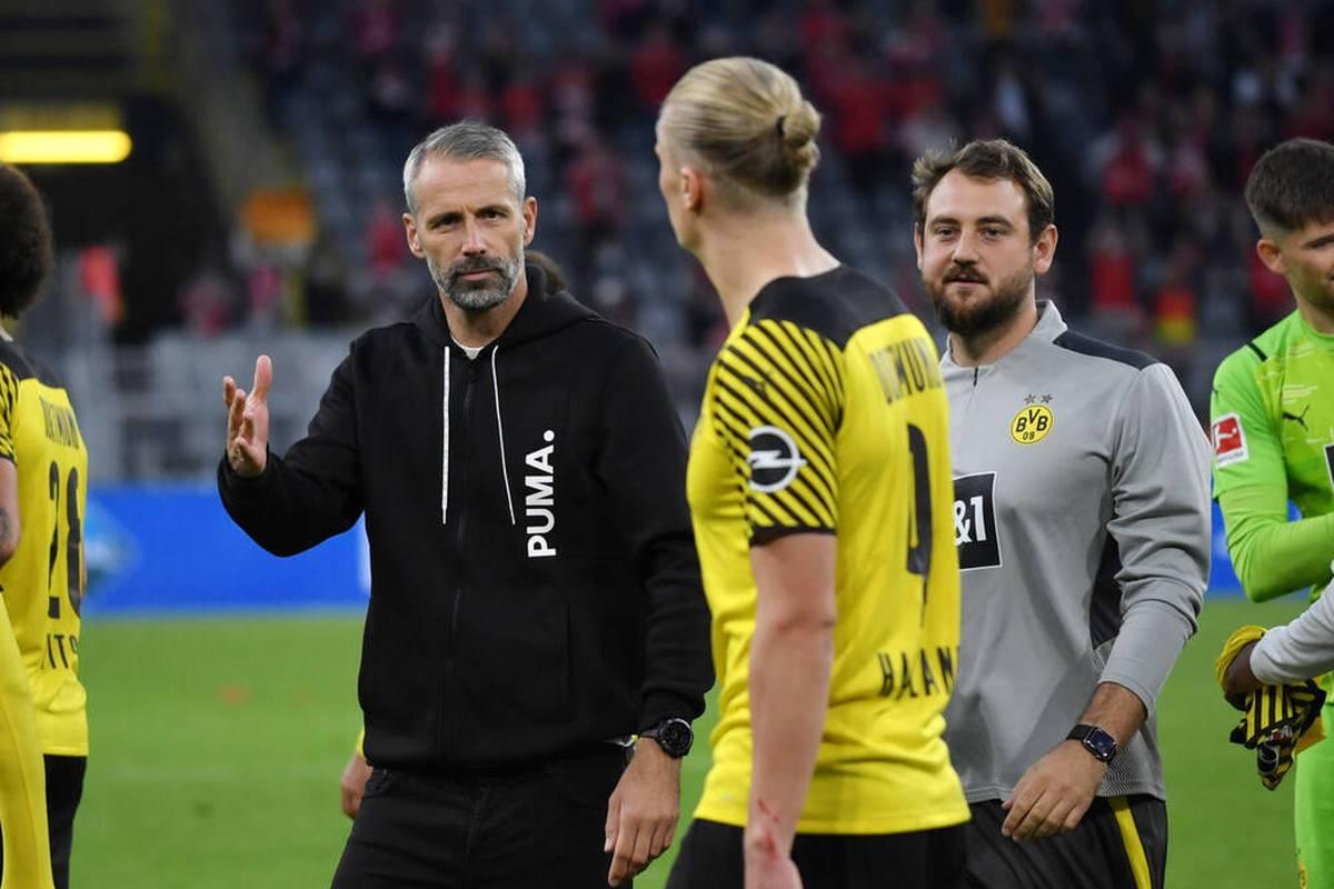 Borussia Dortmund trifft im DFB-Pokal auf einen kriselnden Zweitligisten. Vor der Aufgabe bei der Mission Titelverteidigung plagen Marco Rose allerdings Verletzungssorgen. Die PK im LIVETICKER.