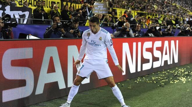 Cristiano Ronaldo bejubelte beim Real-Sieg in Dortmund zwei Treffer