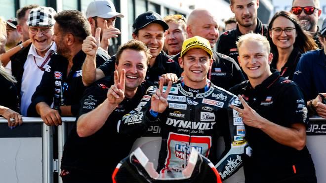 Marcel Schrötter fuhr beim Großen Preis von San Marino auf den dritten Rang