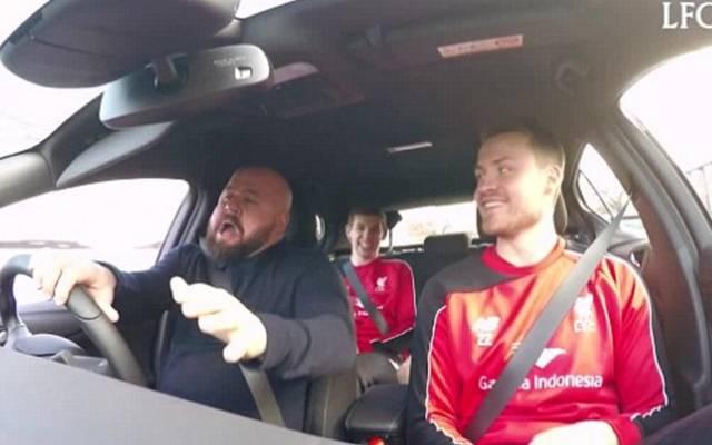 Die Fahrt der Liverpool-Stars wurde mit versteckter Kamera gefilmt