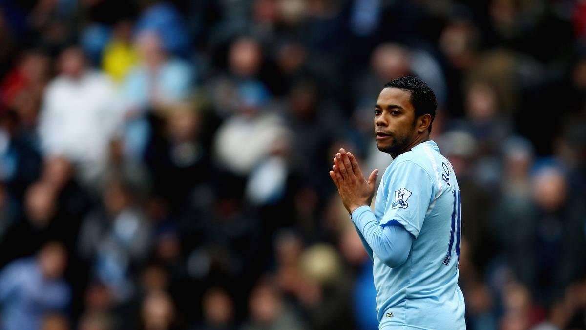 Robinho spielte von 2008 bis 2010 bei Manchester City