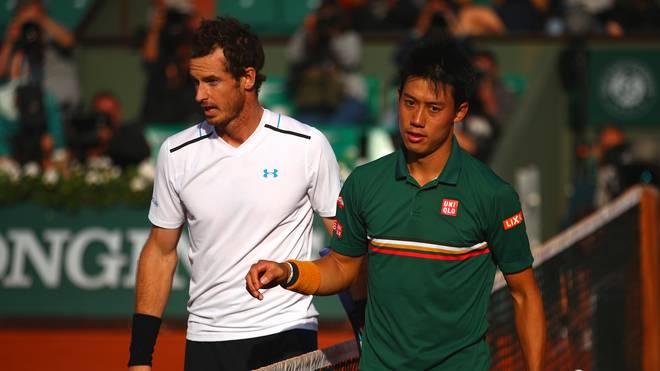 Andy Murray (l.) und Kei Nishikori verpassen die Australian Open in Melbourne verletzt