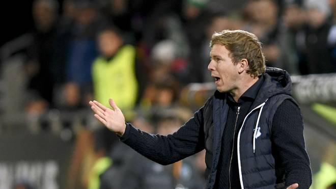 Julian Nagelsmann wartet mit der TSG Hoffenheim noch auf den ersten Erfolg in der UEFA Europa League