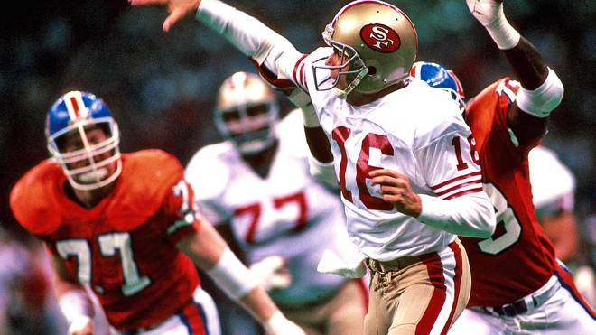 Joe Montana im Super Bowl 1990 für die San Francisco 49ers
