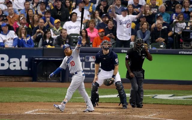 Justin Turner schlug einen Homerun zum Sieg für die Los Angeles Dodgers