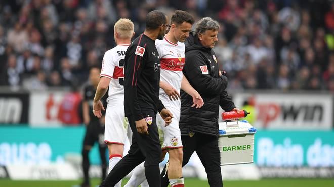 VfB Stuttgart: Christian Gentner und Gonzalo Castro fallen aus, Christian Gentner hat sich gegen Eintracht Frankfurt verletzt