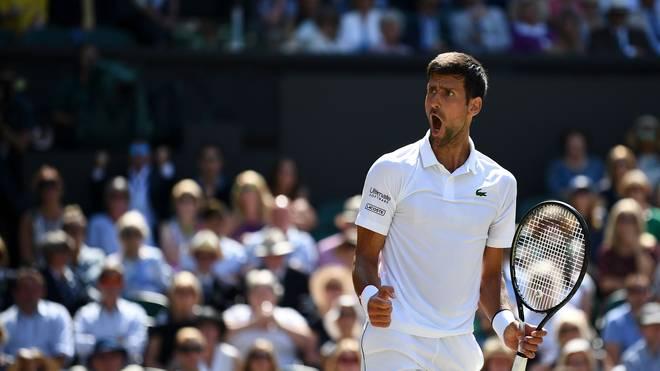 Novak Djokovic steht im Finale von Wimbledon