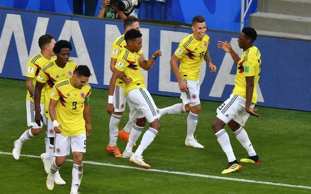 Yerry Mina (r.) erzielte sein zweites Tor bei dieser WM