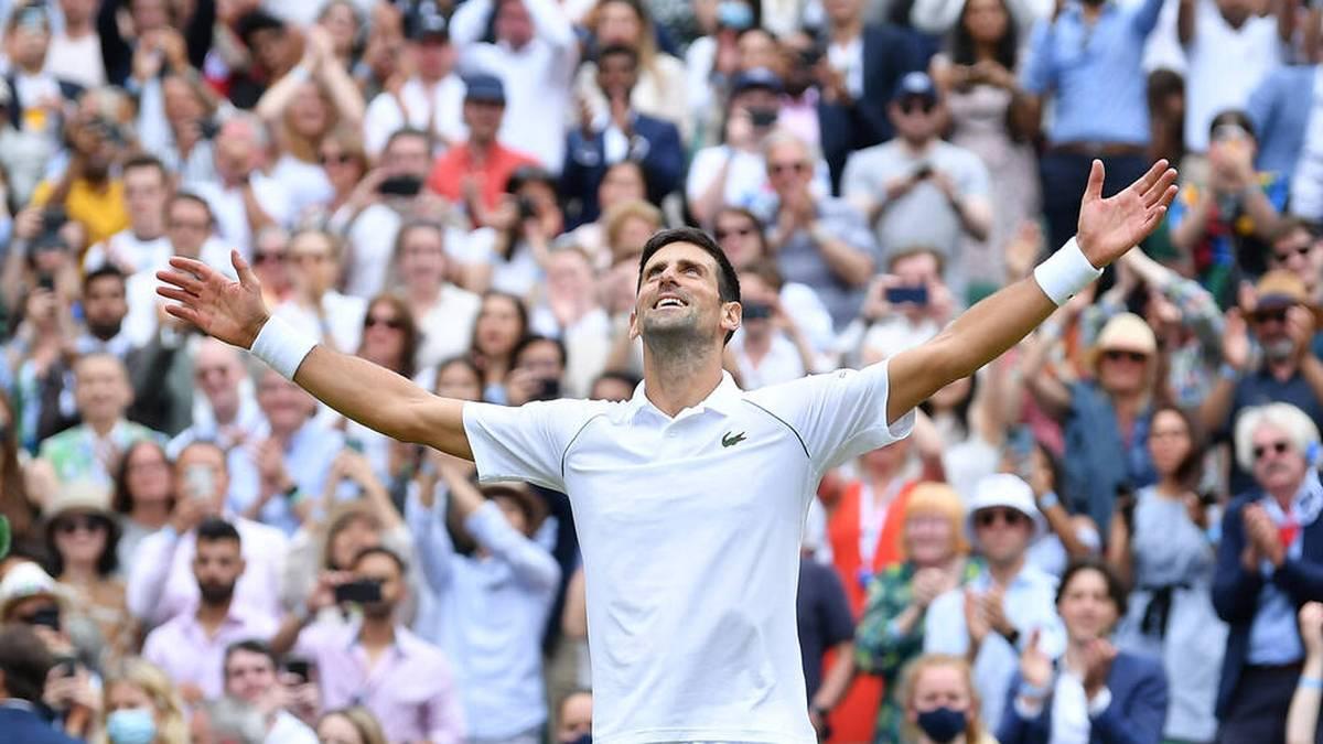 Novak Djokovic feiert seinen 20. Grand-Slam-Titel
