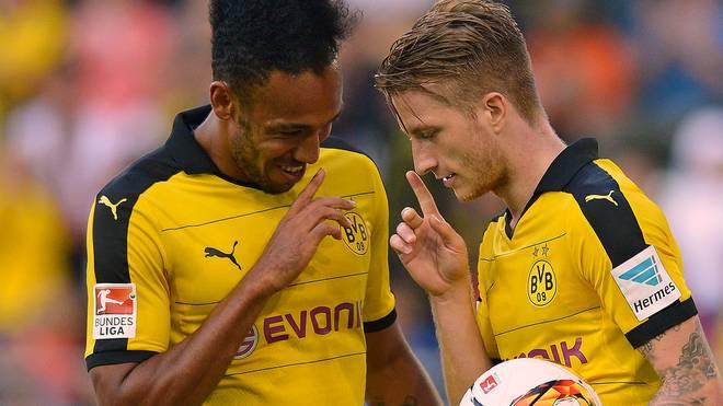 Marco Reus und Pierre-Emerick Aubameyang von Borussia Dortmund