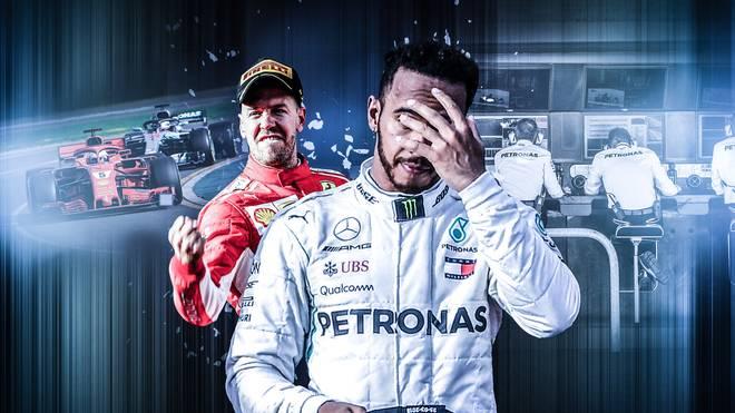 Sebastian Vettel nutzte in Melbourne den Rechenfehler von Mercedes - zum Leid von Lewis Hamilton