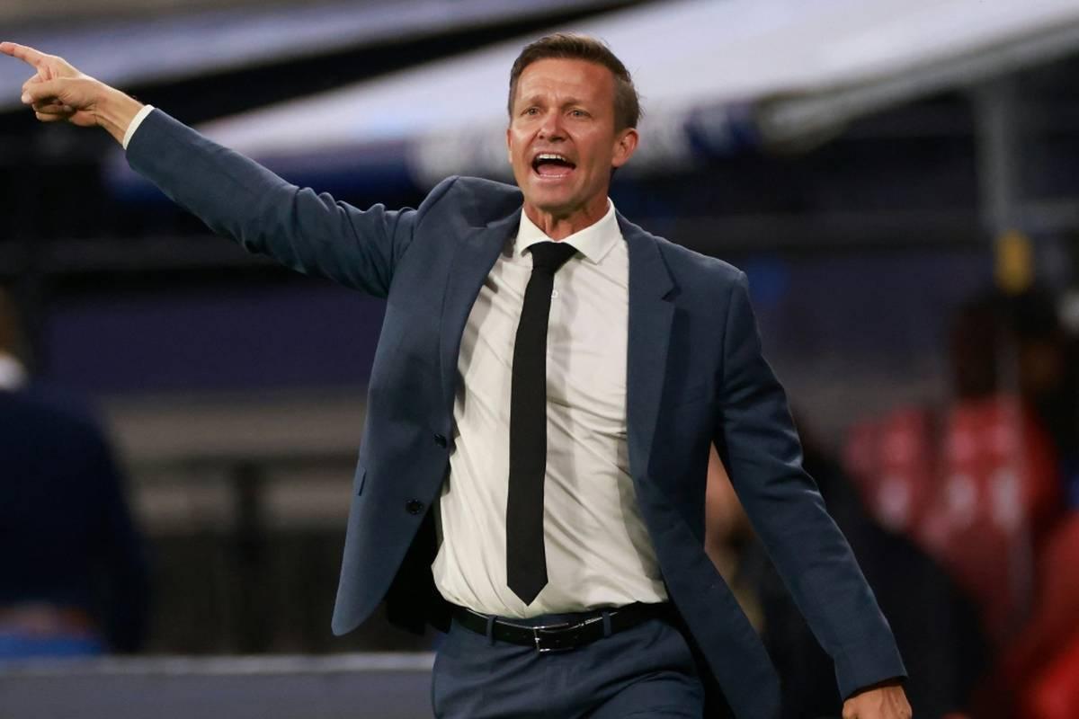 Trainer Jesse Marsch von RB Leipzig hat vor dem Champions-League-Kracher bei Paris St. Germain vor Lionel Messi, Neymar und Kylian Mbappe gewarnt.