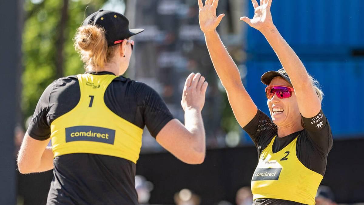 Julia Sude (l.) Karla Borger (r.) triumphierten beim World-Tour-Finale