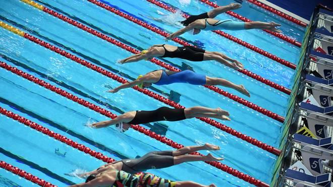 SWIM-WORLD-WOMEN-2019 Bei den Staffelwettbewerben sind die deutschen Frauen ins Finale geschwommen
