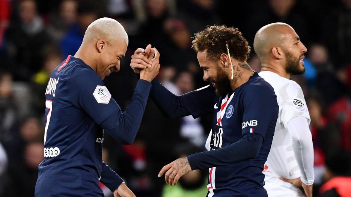Mbappé und Neymar lassen PSG jubeln