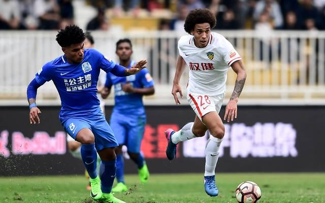 Axel Witsel (rechts) spielt in der chinesischen Liga für Tianjian Quanjian
