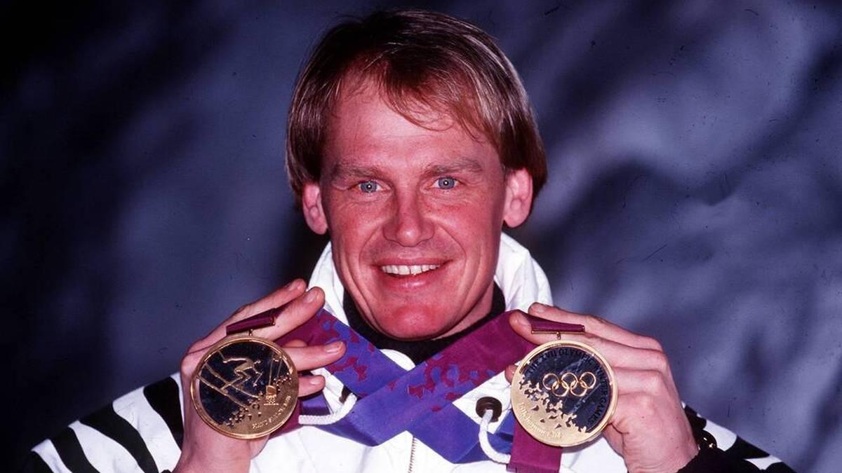 Bei den Olympischen Spielen 1994 in Lillehammer holte Markus Wasmeier Gold im Super-G und Riesenslalom