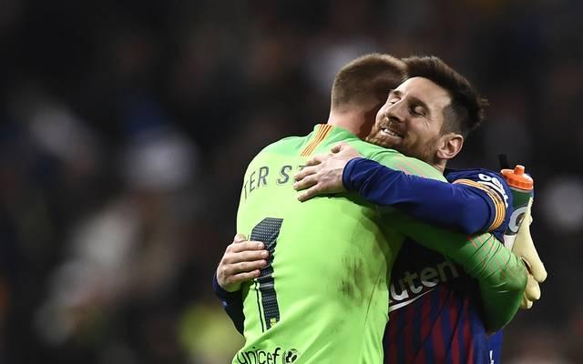 Marc-André ter Stegen und Lionel Messi haben ein spielfreies Wochenende