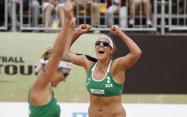 Isabel Schneider (l.) und Victoria Bieneck belegen Platz vier beim erstem Major-Series-Turnier