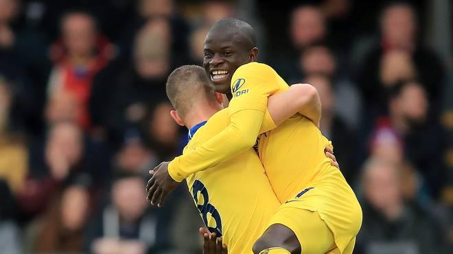 N'Golo Kante erzielte gegen Crystal Palace das 1:0 für den FC Chelsea