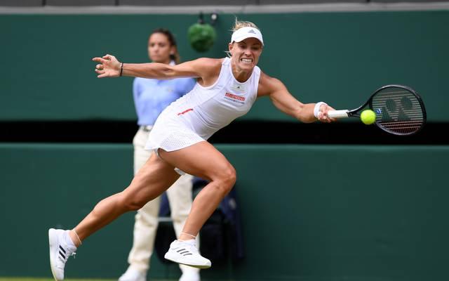 Angelique Kerber hat sich in Wimbledon in die zweite Runde gekämpft