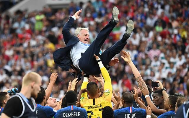 Didier Deschamps wurde nach dem WM-Triumph gebührend gefeiert