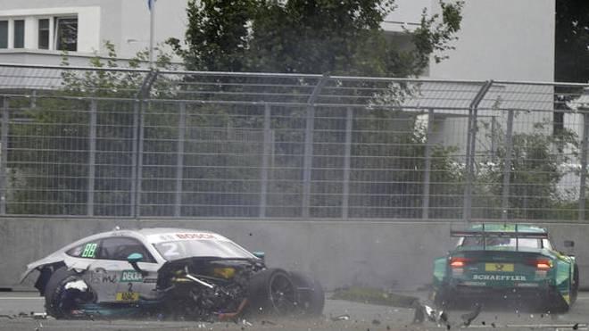 Der Crash von Paffett und Rockenfeller am Norisring war einer der spektakulärsten