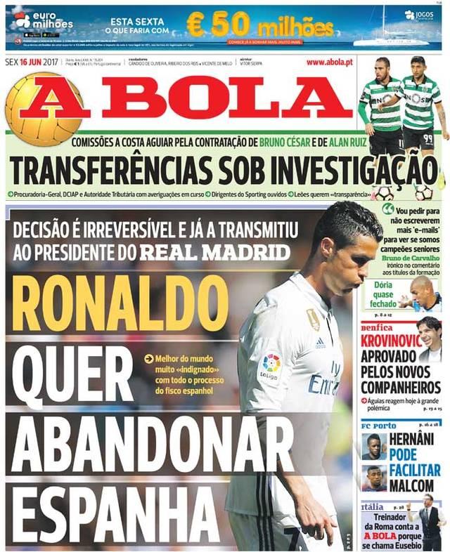 A Bola über Cristiano Ronaldo