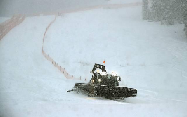 Zu viel Schnee hat das Rennen in Garmisch unmöglich gemacht