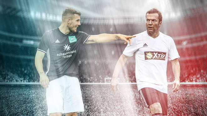 Lukas Podolski und Lothar Matthäus treffen beim Schauinslandreisen Cup aufeinander