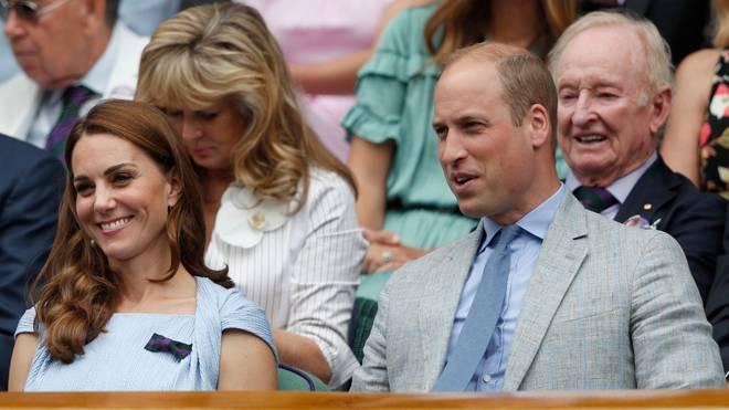 Prinz William und Herzogin Kate verfolgten das Herren-Finale in der Royal Box
