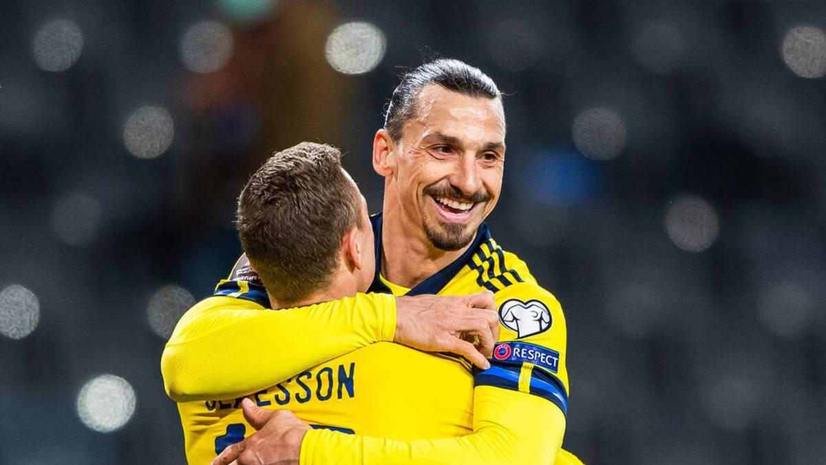 Zlatan Ibrahimovic kämpfte nach seinem erfolgreichen Comeback für die schwedische Nationalmannschaft mit den Tränen.