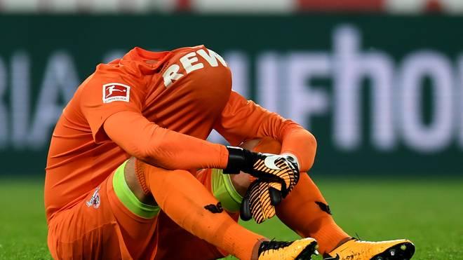 Kölns Torwart Timo Horn ärgert sich nach der erneuten Niederlage gegen Frankfurt